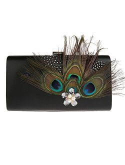KAXIDY Ladies Evening Bag Flowers Evening Clutch Bags Wedding Bridal Prom Party Purse Clutches