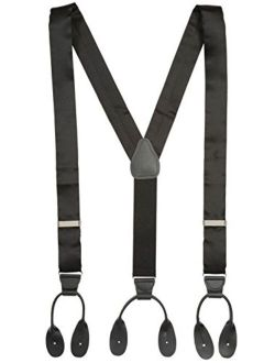 100% Silk Suspenders For Men Y-back Button End Made In Usa – Many Colors And Designs