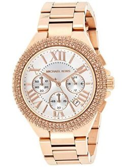 Mk5636 Women's Chronograph Camille Rose Gold-tone Stainless Steel Bracelet Watch