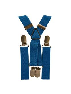 Elastic Suspenders for grooms, groomsmen, ring bearers attire with Brass Clips (Adult & Kids Sizes) - By London Jae Apparel