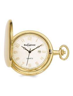 Sonia Jewels Swingtime Gold-finish Brass Quartz 48mm Pocket Watch