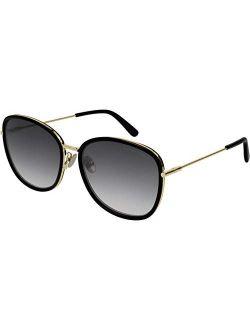 Bv0220sk Sunglasses 001 Black-black/grey 59mm