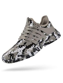 Men's Running Shoes Non Slip Shoes Breathable Lightweight Sneakers Slip Resistant Athletic Sports Walking Gym Work Shoes