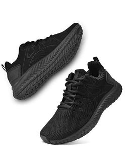 Men's Sneakers Non Slip Running Shoes Lightweight Breathable Slip Resistant Athletic Sport Walking Gym Work Shoes