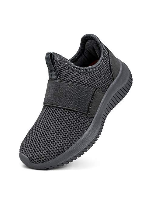 Troadlop Boys Girls Shoes Lightweight Breathable Running Tennis Kids Sneaker