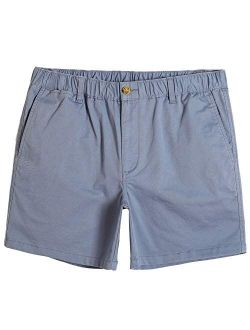 """Men's Classic-fit 5.5"""" Cotton Casual Shorts Elastic Waistband With Multi-pocket Daily Wear Walking Summer Outfit"""