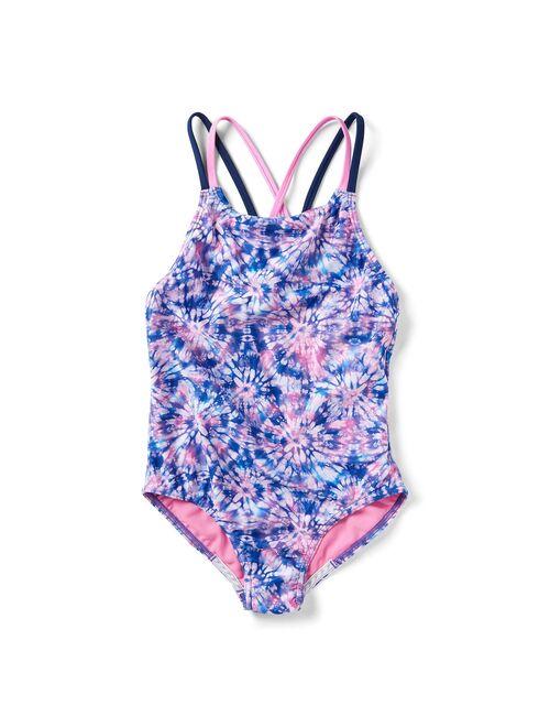 Girls 7-16 Speedo Printed Strappy One Piece Swimsuit