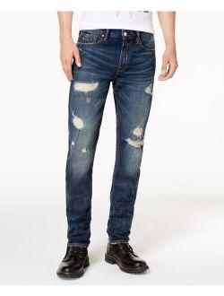 Men's Slim Tapered Fit Destroyed Jeans