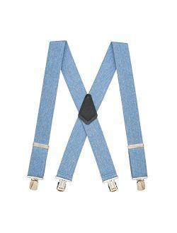 SuspenderStore Men's Classic 2-Inch Wide Pin Clip Suspenders