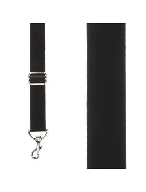 SuspenderStore Men's Leather 1-Inch Wide Trigger Snap Suspenders
