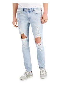 Men's Destroyed Knees Skinny Jeans