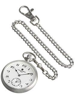 Charles-Hubert, Paris 3955-W Premium Collection Analog Display Mechanical Hand Wind Pocket Watch