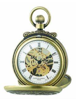 3868-g Classic Antique Gold-plated Case Mechanical Pocket Watch