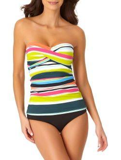 - Twist Front Bandeaukini Swim Top