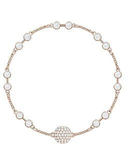 Remix Collection Carrier Rose Gold-plated White Crystal Strand, Size Medium