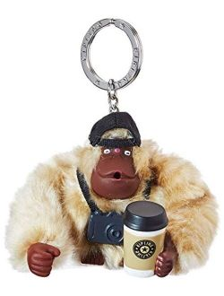 Traveler Monkey Women's Keyring, Silver (silver Beige Core), 8.5x7x5 Centimeters (b X H X T)