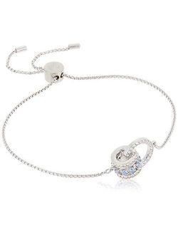 Women's Further Jewelry Collection, Rhodium Finish, Blue Crystals, Clear Crystals