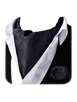 Cravat Ascot Tie And Pocket Square Set For Men Wedding Cravat Scarf