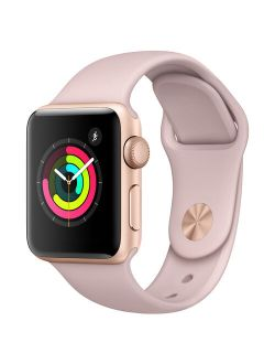 Bished Apple Watch - Series 3 - 38mm - Gold Aluminum Case - Pink Sand Sport Band
