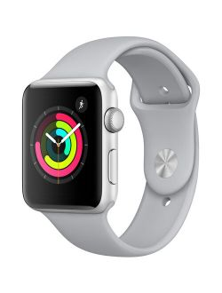 Bished Apple Watch - Series 3 - 42mm - Silver Aluminum Case - Fog Sport Band