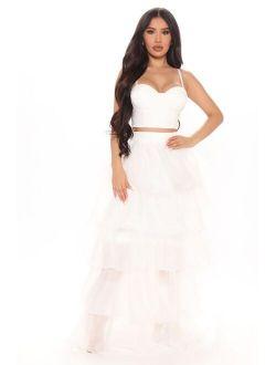 Make An Appearance Skirt Set - Ivory