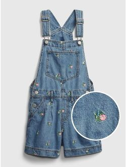 Kids Floral Shortalls
