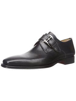 Marco Black Men's Monk Strap Shoes