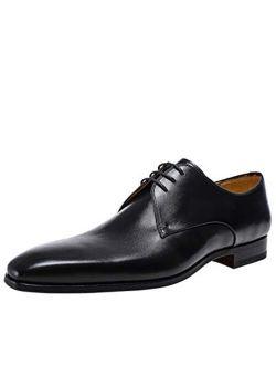 Men's Leather Derby Paros Shoes Black