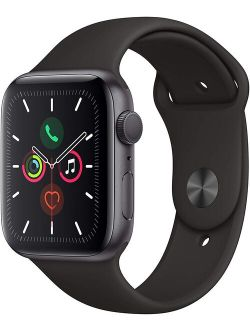 Bished Apple Watch Gen 5 Series 5 44mm Space Gray Aluminum - Black Sport Band Mwvf2ll/a
