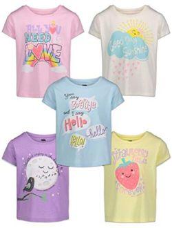 Lyrics by Lennon and McCartney Girls 5 Pack T-Shirts (Runs Small Order 1-2 Sizes up)
