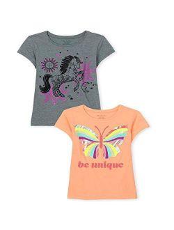 Girls Animal Graphic Tee 2-pack