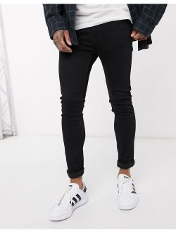 Youth 519 Super Skinny Fit Hi-ball Roll Jeans In Stylo Advanced Stretch Black