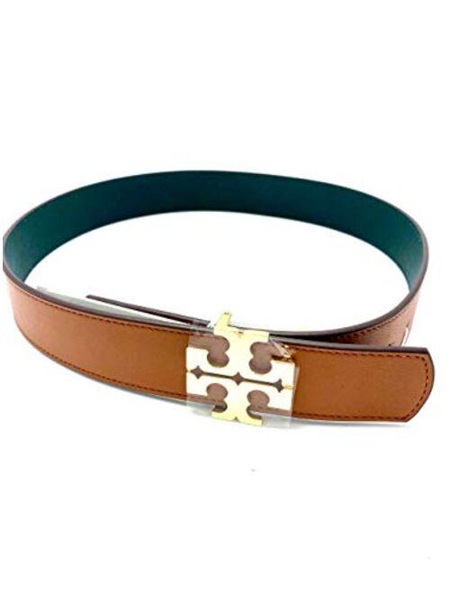 Tory Burch 56440-906 Classic Tan/Norwood 1 1/2 inch Reversible Logo Women's Belt
