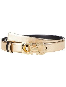 Ferragamo Gancini Icona Metal Adjustable And Reversible Belt