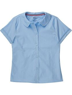 School Uniform Girls Short Sleeve Modern Peter Pan Blouse