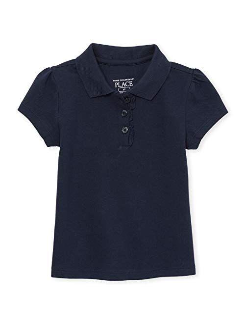 The Children's Place girls Toddler Uniform Ruffle Pique Polo