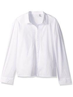 Girls' Uniform Long Sleeve Blouse
