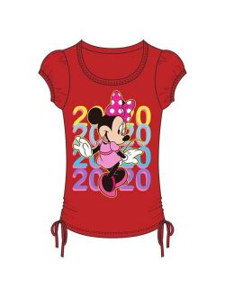 Youth Girls 2020 Minnie Color Repeat Side Tie Top, Red L