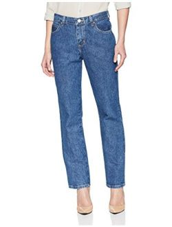 Women's Petite Relaxed Fit All Cotton Straight Leg Jean