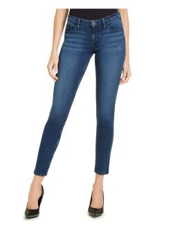 Blue Denim Mid-Rise Skinny Jeans