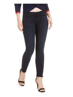 Black Denim Solid Mid-rise Skinny Jeans