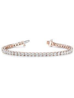 14K White Gold Diamond Tennis Bracelet 4 Prong Value Plus Collection