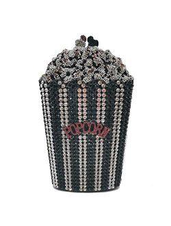 Luxury Crystal Popcorn Women Evening Bags and Clutches Metal Minaudiere Wedding Purses Bridal Handbags