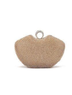 Chirrupy Chief Apple Shape Ring Clutch Purse Bling Rhinestone Crystal Clutch Bag