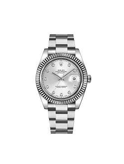 Datejust Ii 41mm Steel Silver Diamond Dial Men's Watch 116334