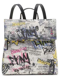 Tilly Graffiti Foldover Closure Backpack