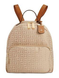 Julia Logo Jacquard Dome Backpack