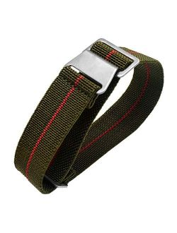 Man's French Troops Military Parachute Watchband Special Elastic Fabric Nylon Canvas Strap Hook Buckle 20/22mm