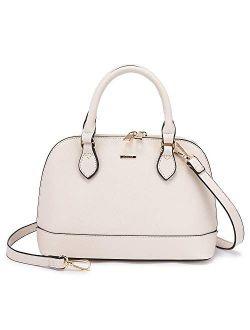 Small Crossbody Bags for Women Classic Double Zip Top Handle Dome Satchel Bag Shoulder Purse