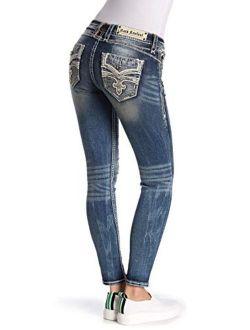 - Womens Joni Skinny Light Jeans